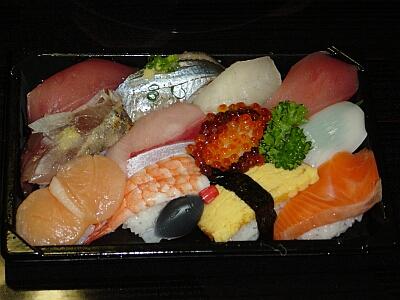 一緒に握り寿司
