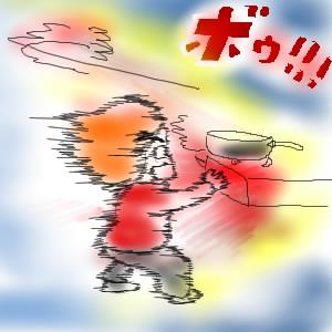 【台所】ガスレンジガス爆発