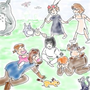 Tomo画「ジブリーズ・ピクニック」
