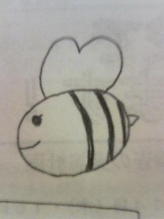 天然女子高生えりかちゃん画『蜂(ハチ)』