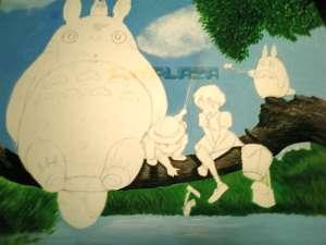 トトロの絵の進行3「色の調子を調節」