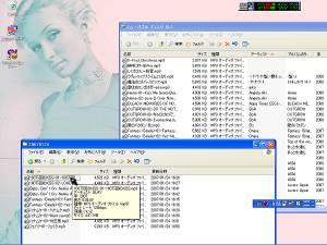 SDカードのフォルダと音楽ファイルのあるフォルダを同時に開いておく。