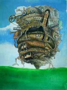 【画像】ハウルの動く城の絵の背景色塗り「下地の色」
