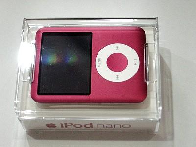 iPod nano 限定レッドバージョン クリアケース入り
